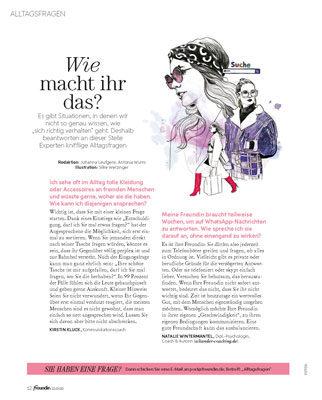 Freundin Magazin Businessknigge Auszug